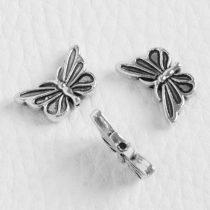Tibeti stílusú fém köztes - antik ezüst színű 10x17mm-es pillangó
