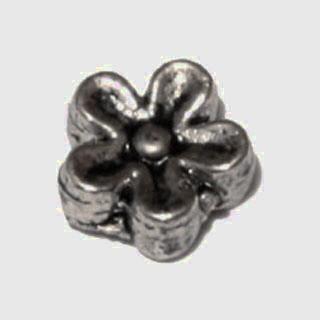 Tibeti stílusú fém köztes - antik ezüst színű 7mm-es virág