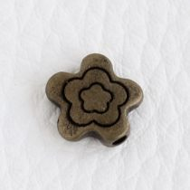 Tibeti stílusú fém köztes - antik bronz színű 11mm-es virág