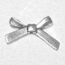 Tibeti stílusú fém masni - antik ezüst színű 19x12mm-es