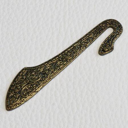 Könyvjelző alap 8cm-es - antik bronz színű, lapos