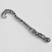 Könyvjelző alap 8 cm-es - antik ezüst színű, delfines
