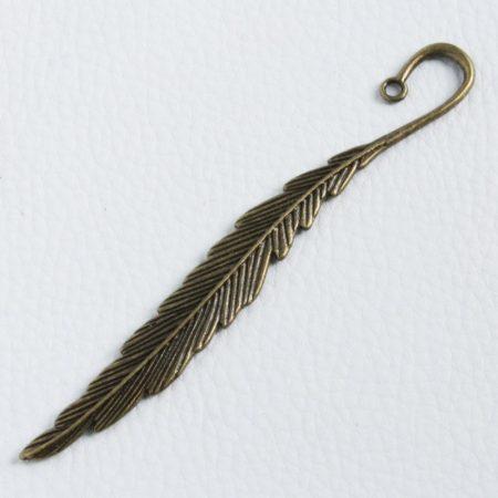 Könyvjelző alap 11,5cm-es - antik bronz színű, toll