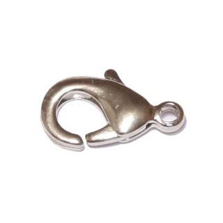 Ródium színű, 12mm-es delfinkapocs