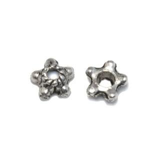 Tibeti stílusú fém gyöngykupak - antik ezüst színű 5,5mm-es