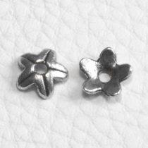 Tibeti stílusú fém gyöngykupak - antik ezüst színű 9mm-es