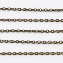 Antik bronz színű, vas alapú, 3,6x2,5mm-es nyitható szemű fémlánc - 1m