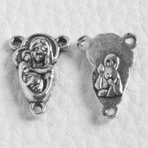 Tibeti stílusú rózsafűzér összekötő elem - antik ezüst színű 18x12mm-es