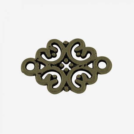 Tibeti stílusú összekötő elem - antik bronz színű 19x13mm-es