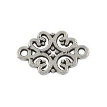 Tibeti stílusú összekötő elem - antik ezüst színű 19x13mm-es