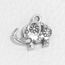 Tibeti stílusú fém medál / fityegő - antik ezüst színű 14x16mm-es elefánt