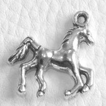 Tibeti stílusú fém medál / fityegő - antik ezüst színű 25x22mm-es ló