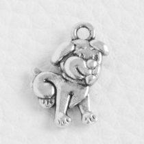 Tibeti stílusú fém medál / fityegő - antik ezüst színű 17,5x11,5mm-es kutya
