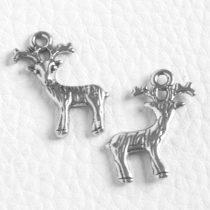 Tibeti stílusú fém medál / fityegő - antik ezüst színű 23x19mm-es rénszarvas