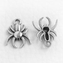 Tibeti stílusú fém medál / fityegő - antik ezüst színű 17x13mm-es pók