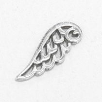 Tibeti stílusú fém medál / fityegő - antik ezüst színű 24x9mm-es angyalszárny