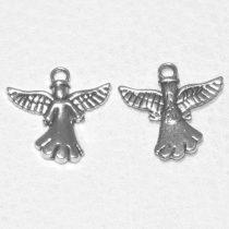 Tibeti stílusú fém medál / fityegő - antik ezüst színű 20x20mm-es angyal