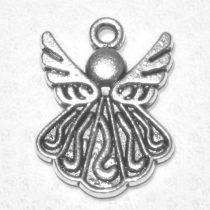 Tibeti stílusú fém medál / fityegő - antik ezüst színű 21x15mm-es angyal