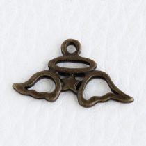 Tibeti stílusú fém medál / fityegő - antik bronz színű 13x23mm-es angyalszárny