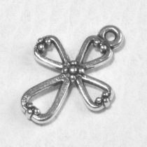 Tibeti stílusú fém medál / fityegő - antik ezüst színű 22x16,5mm-es kereszt