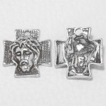 Tibeti stílusú fém medál / fityegő - antik ezüst színű 23x22mm-es kereszt