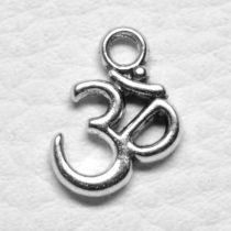 Tibeti stílusú fém medál / fityegő - antik ezüst színű 15x14mm-es Aum jel