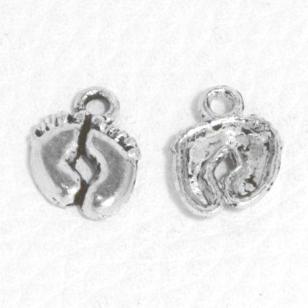 Tibeti stílusú fém medál / fityegő - antik ezüst színű 14x10mm-es talpak