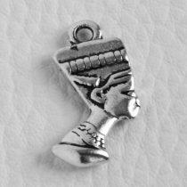 Tibeti stílusú fém medálka / fityegő - antik ezüst színű 212x13mm-es fáraó fej