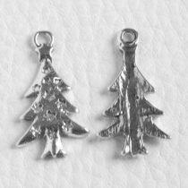 Tibeti stílusú fém medál / fityegő - antik ezüst színű 25x14mm-es karácsonyfa