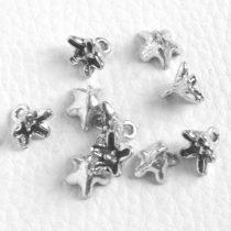 Tibeti stílusú fém medál / fityegő - antik ezüst színű 8x10mm-es virág