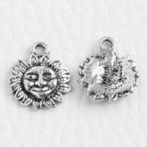 Tibeti stílusú fém medál / fityegő - antik ezüst színű 15x13mm-es nap