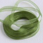 Organza szalag 7mm széles - zöld - 10m