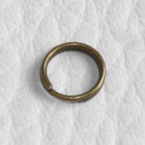Antik bronz színű, 6mm-es duplakarika - 100db