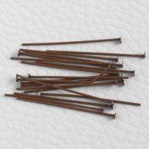 Antik vörösréz színű, 3cm-es, 0,7mm vastagságú talpas szerelőpálca, feje kb. 2mm-es - 100db