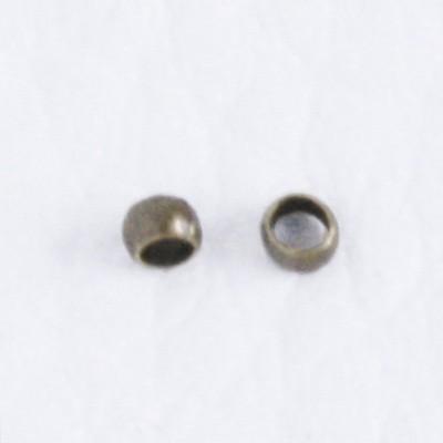 Stopper - antik bronz színű - hordós - 1,3x2mm-es - 100db