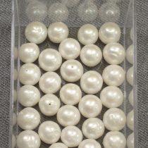 Tenyésztett gyöngy, fehér- kb. 10x11mm-es - 1db