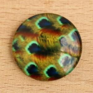 Mintás üveglencse / kaboson (169) - 25mm-es