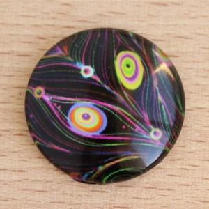 Mintás üveglencse / kaboson (422) - 25mm-es