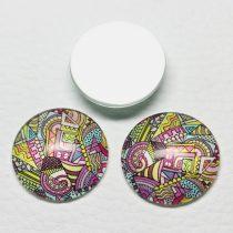 Mintás üveglencse / kaboson (446) - 25mm-es