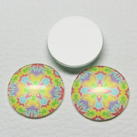 Mintás üveglencse / kaboson (458) - 25mm-es