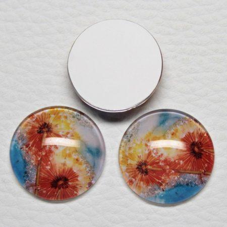 Mintás üveglencse / kaboson (467) - 25mm-es