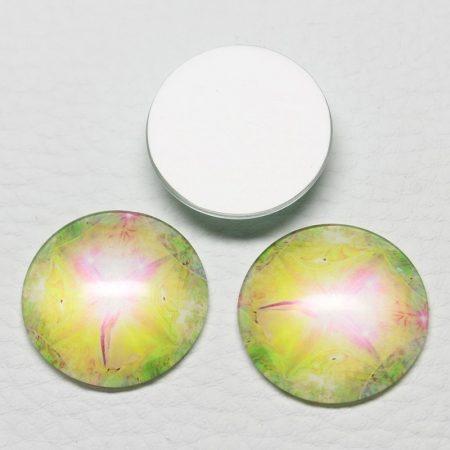 Mintás üveglencse / kaboson (557) - 25mm-es
