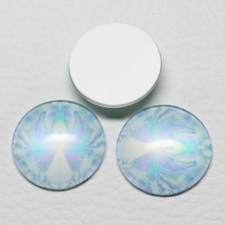 Mintás üveglencse / kaboson (563) - 25mm-es