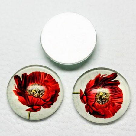 Mintás üveglencse / kaboson (601) - 25mm-es