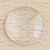 Üveglencse / kaboson - kerek, 25mm-es