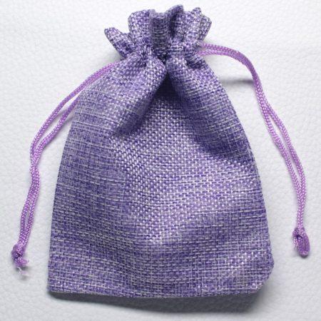 Vászon ajándéktasak kb. 10x14cm-es lila
