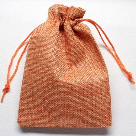 Vászon ajándéktasak kb. 10x14cm-es narancssárga