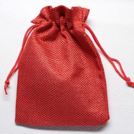 Vászon ajándéktasak kb. 10x14cm-es piros