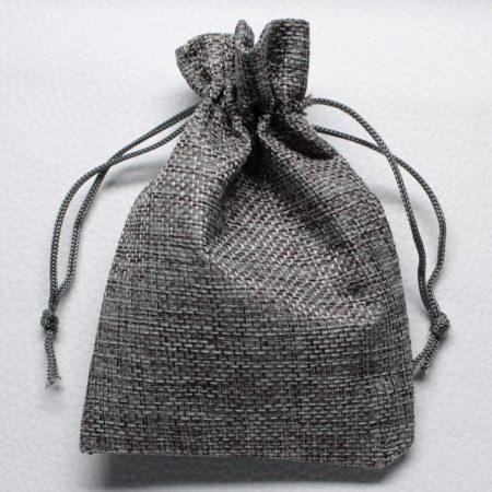 Vászon ajándéktasak kb. 10x14cm-es szürke