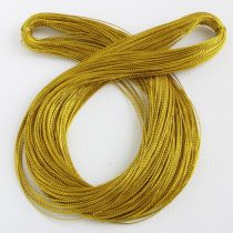 Lurex (metálfényű műszálas) zsinór 0,6mm vastagságú - f60 arany színű - kb. 100m